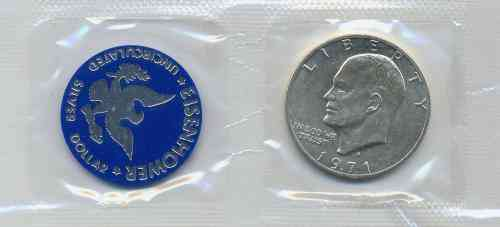USA - Eisenhower Silver Dollar 1971